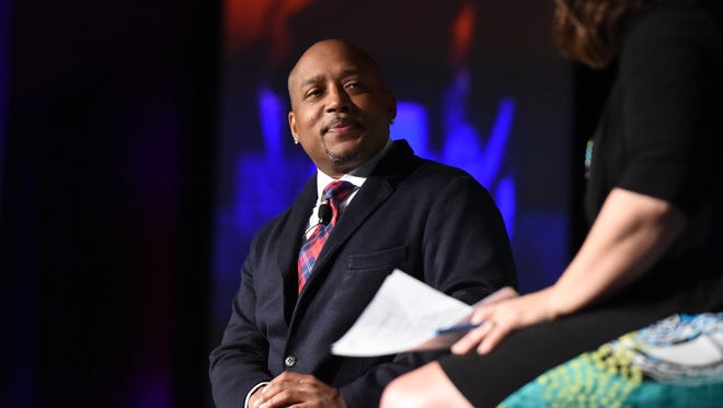 Daymond John was the keynote speaker for the Power of the Purse Luncheon on May 19, 2016, at the Oshkosh Convention Center.