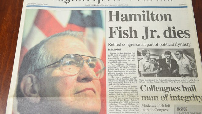 The July 24, 1996 front page of the Poughkeepsie Journal.