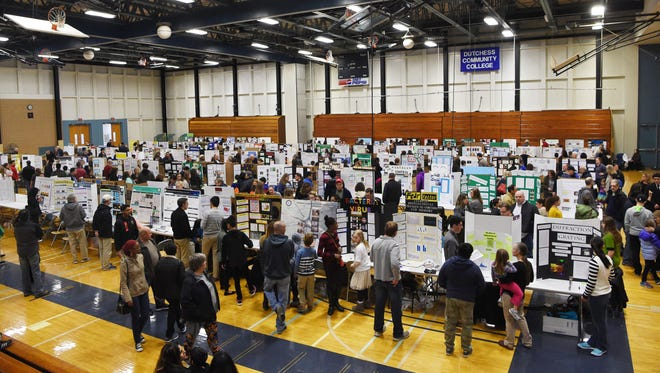 A view of the Dutchess County Regional Science Fair, held at Dutchess County Community College in the Town of Poughkeepsie.