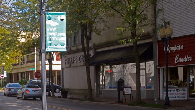 Phillips Drugs is one of a handful of downtown Richmond businesses that will get a new facade as part of a Stellar Communities project.