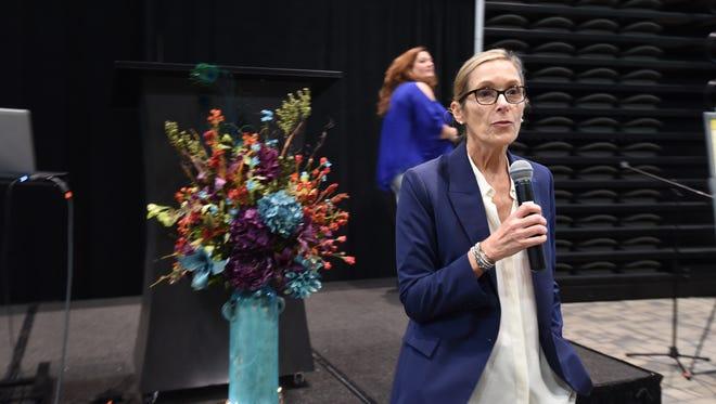 Award-winning filmmaker Carolyn Jones speaks at the Baxter Regional Medical Center's fifth annual Nursing Summit on Thursday. The summit celebrates nurses' work.