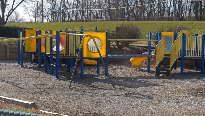 Part of the playground area at Middlefork Reservoir in Richmond.