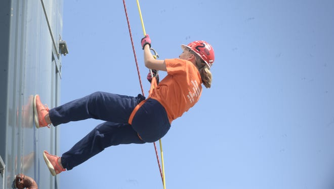 Paighton Morken, who served as a lieutenant, said rappelling was her favorite activity during the Youth Fire Academy.