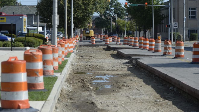 Work on North Seventh Street, a piece of the Stellar Streets project, began recently.