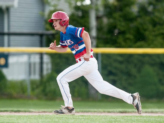 St. Clair's Collin Pavlov runs for third during a baseball game Thursday, May 18, 2017 at Port Huron Northern High School.