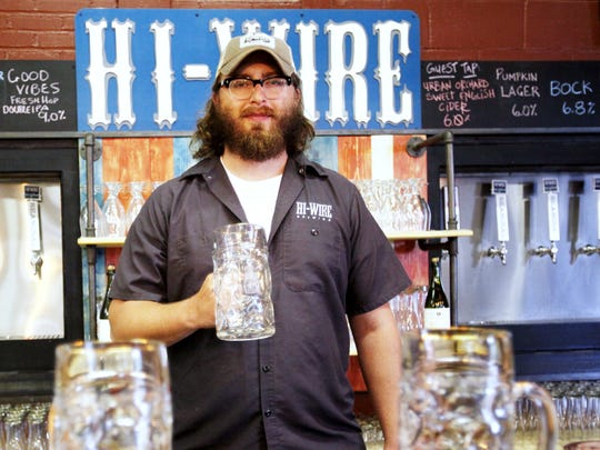 Hi-Wire Brewing co-owner Chris Frosaker is shown in