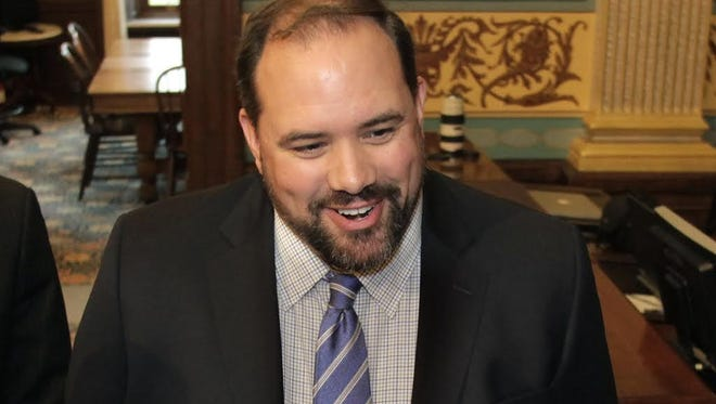 Senate Minority Leader Jim Ananich, D-Flint is photographed in Dec. 2014 at the State Capitol in Lansing. Picture received from his office Jan. 9, 2015.