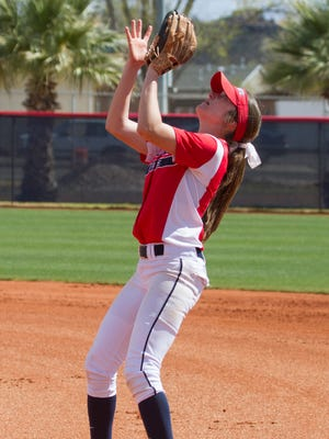 Dixie State softball defeats Hawaii Pacific University 13-1 in the first game of a double-header Saturday, March 12, 2016.