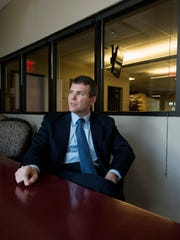 Walt Maddox discusses his run for Governor on Wednesday April 18, 2018 in Montgomery, Ala.
