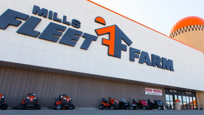 A customer exits the Mills Fleet Farm store in Grand Chute on June 2. A new CEO for the big-box retailer was announced Monday.