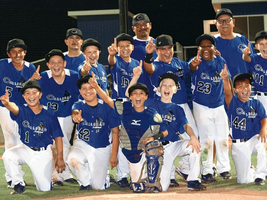 Matt Hollinshead — Current-Argus National Blue won the 11-year-old District All Star tournament championship, beating Shorthorn Yellow 6-3 Sunday at Bob Forrest Youth Sports Complex.