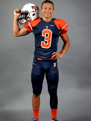 Blackman's Taeler Dowdy on Saturday August 1, 2015.