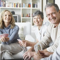 Socially active older adults are less likely to develop both cognitive and physical limitations. Try a weekly card game with friends or volunteer for a local organization to continue to get out and meet new people.