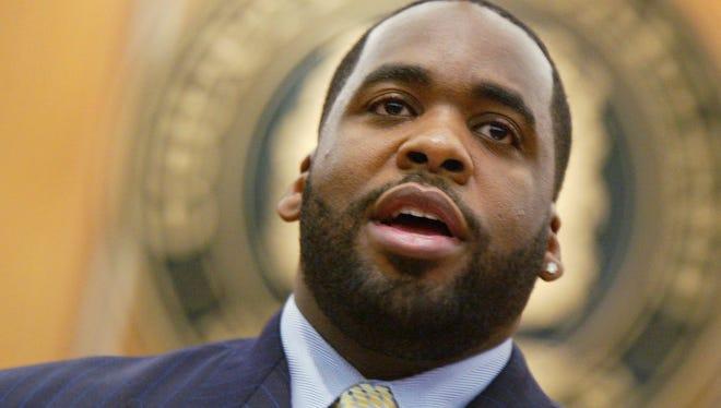 Former Detroit Mayor Kwame Kilpatrick in 2004.