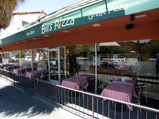 Bill's Pizza in Palm Springs.