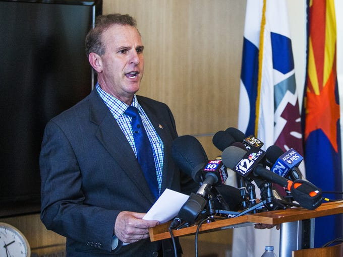Chandler Mayor Jay Tibshraeny announces that Intel