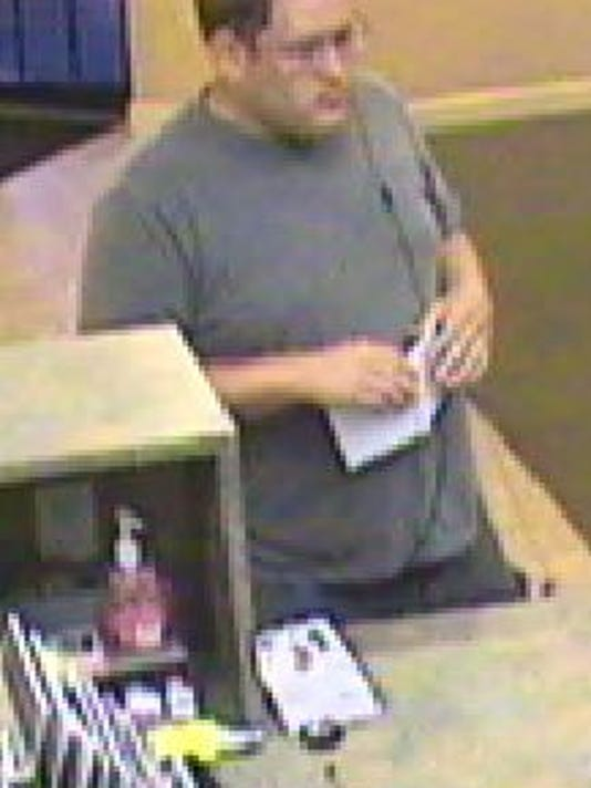 Police are looking for the identity of this man, wanted for a bank robbery in York Township.