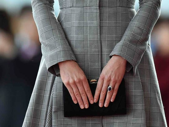 Bump watch today for Duchess Kate, participating in