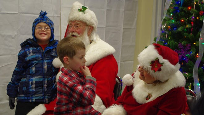 I'm not sure this young man ever figured out what he wanted to ask Santa for Christmas.