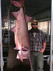 Andy Belobraydic of Richwoods snagged a new state-record paddlefish last March at Table Rock Lake.