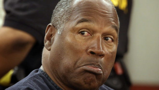 O.J. Simpson, shown at a hearing in 2013, has been in prison since 2008.