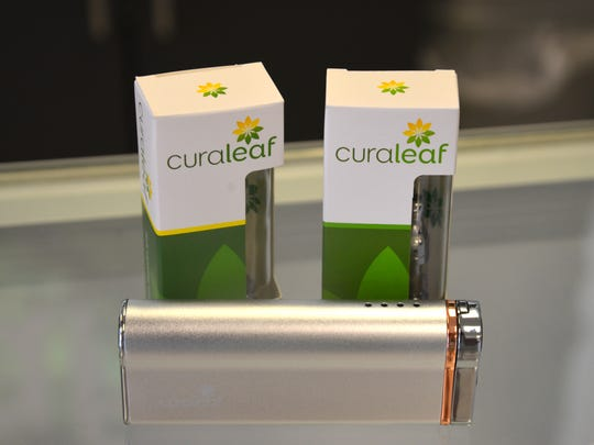 A vaporizer capable of doing flower of oil. Curaleaf, the first medical marijuana dispensary to open in Brevard, opened Wednesday with a soft opening and a grand opening Thursday. The dispensary, on Palm Bay Road, had more than 50 customers by mid- afternoon Thursday.