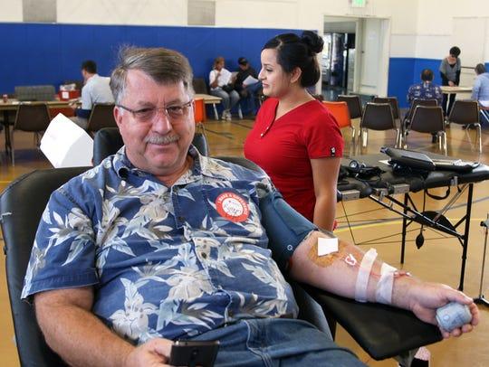 Robert Smith of Salinas makes a 'double donation' of