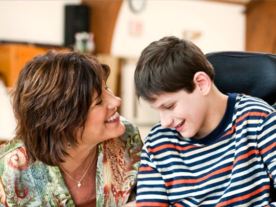 Special Moms co-founder Susan Kleiman with her son,
