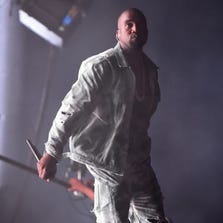 SAN FRANCISCO, CA - AUGUST 08: Rapper Kanye West performs at the Lands End Stage during day 1 of the 2014 Outside Lands Music and Arts Festival at Golden Gate Park on August 8, 2014 in San Francisco, California.
