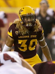 Arizona State defensive back Dasmond Tautalatasi.