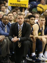 Marquette coach Steve Wojciechowski and the Golden Eagles face Xavier in Milwaukee.