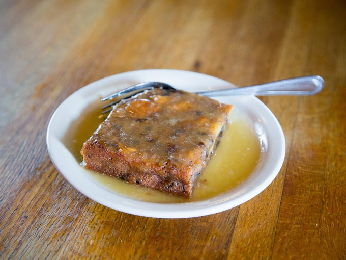 Bread Pudding with Whiskey Sauce at Texaz Grill in