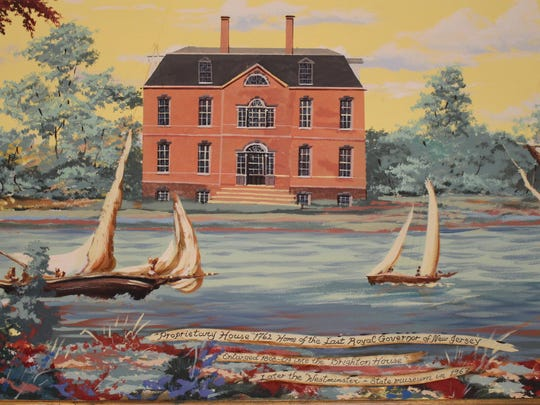 A painting of the Proprietary House. Courtesy of Noelia Colon