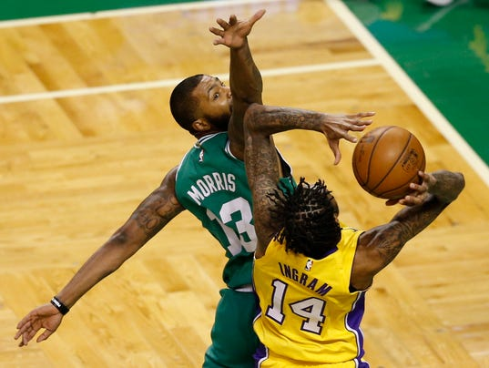 USP NBA: LOS ANGELES LAKERS AT BOSTON CELTICS S BKN BOS LAL USA MA