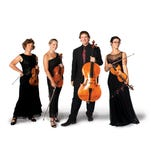 The Cascade String Quartet, from left, consists of violinist Mary Papoulis, new violist Maria Ritzenthaler, cellist Thaddeus Suits and violinist Megan Karls.