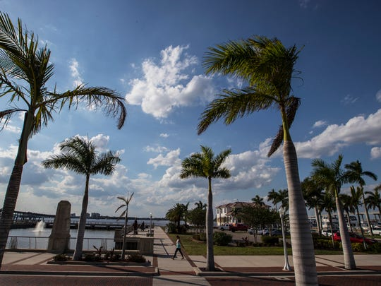 Downtown Fort Myers River District photographed Monday