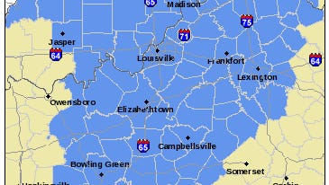 Areas in blue are in the frost-advisory region