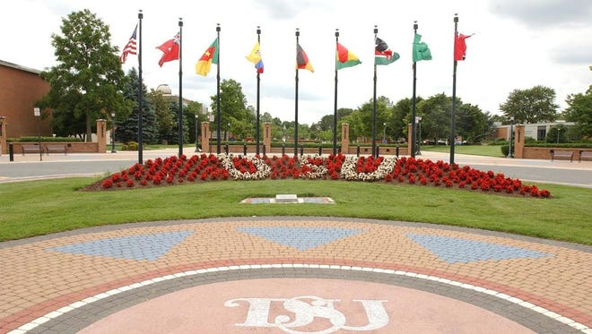Delaware State University was listed as one of the top 10 historically black colleges and universities in the nation in new rankings by U.S. News and World Report. The school was 13th last year. Photo taken Thursday June 8, 2006 at the entrance to Delaware State University.