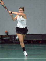 Melanie Kania, a Union-Endicott graduate, has a 4-2 record in both singles and doubles for Pratt Institute.