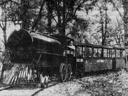 The Casey Jones train at Paradise Island is seen in a photo from the June 8, 1957, Oregon Statesman.