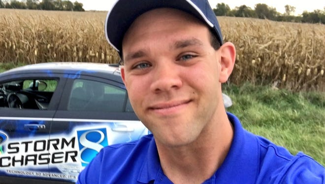 KCCI weatherman Frank Scaglione has racked up more than 8,000 Twitter followers.