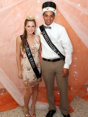 Desmond Martinez and Kayla Williams were named Cumberland Regional High School's 2017 Homecoming King and Queen.
