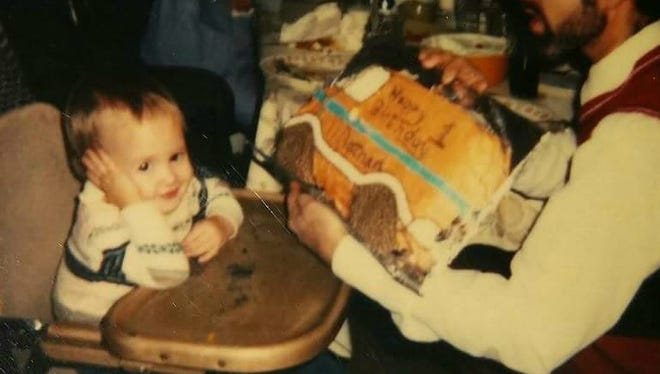 Melissa's brother, Bobby, at his first birthday party.