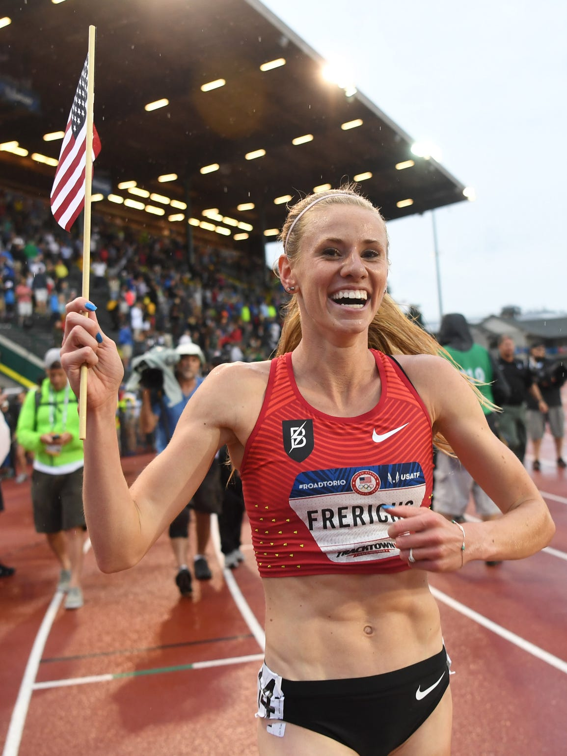 Courtney Frerichs turned in the fourth-best time in