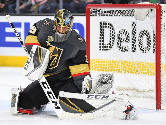 USP NHL: CALGARY FLAMES AT VEGAS GOLDEN KNIGHTS S HKN VGK CGY USA NV