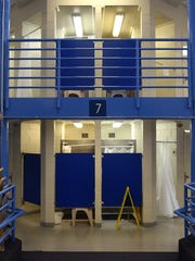 The inside of a housing unit is seen at the Washoe County jail.