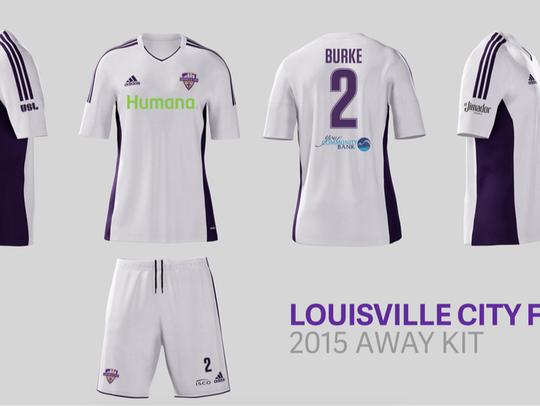 Louisville City FC's road kits.
