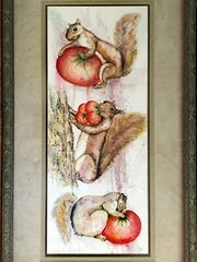 This watercolor is by Eleanor F. Strauser, a first-time