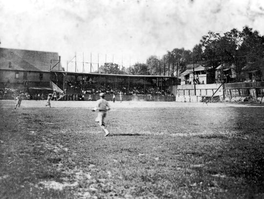 Photo showing a baseball game between the Asheville
