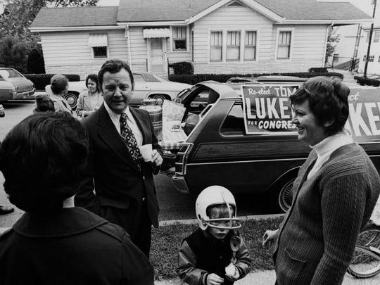 Tom Luken campaigns for Congress, circa the 1970s
